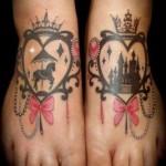 disney tattoos cinderella carousel silhouettes