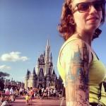 disney tattoos disney castle