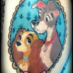 disney tattoos lady and the tramp