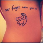 disney tattoos lion king simba never forget who you are
