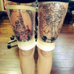 disney tattoos massive thigh pieces incomplete outline