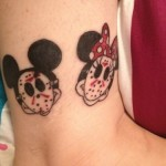 disney tattoos mickey minnie mouse with jason masks