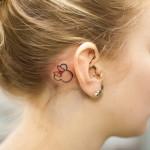disney tattoos minnie behind ear really cute outline
