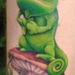 disney tattoos tangled gecko