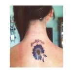 flower tattoo daisy blue daisy
