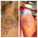 flower tattoo daisy outline