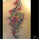 flower tattoo green lily