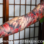 flower tattoo lily sleeve