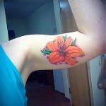 flower tattoo orange lily