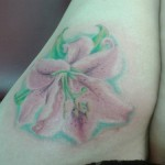 flower tattoo pink lily