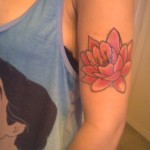 flower tattoo pink lily 2