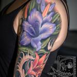 flower tattoo purple lily