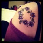 flower tattoo purple poppies