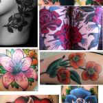 flower tattoo rose on arm