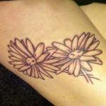 flower tattoo sad daisy