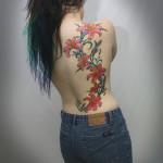 flower tattoo sexy side piece