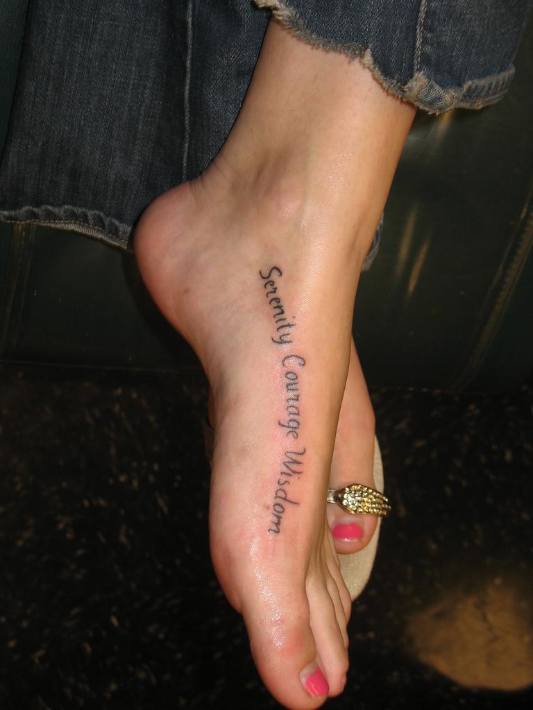 Script Foot Tattoo