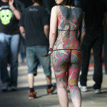 A tattooed woman is pictured at the fift