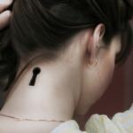 neck tattoo alice keyhole