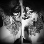 neck tattoo amazing geometric pattern