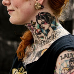 neck tattoo amazing snow white traditional