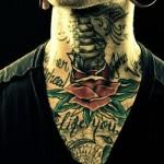 neck tattoo ships sail