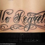 no-regrets_Lettering-Tattoos