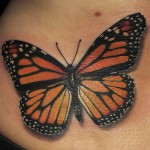 orange-butterfly-tattoos