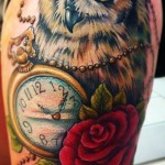 owl-tattoo-with-clock