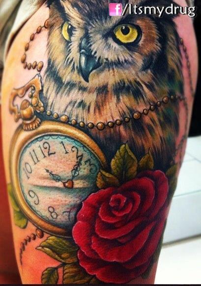 Pocket Watch Owl Tattoo Tattoo on Pinterest | ...