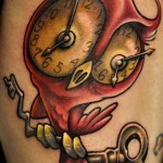 owl-tattoos-clock