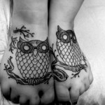 owl-tattoos-feet