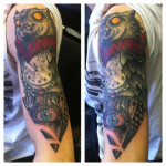 owl-tattoos-half-sleeve