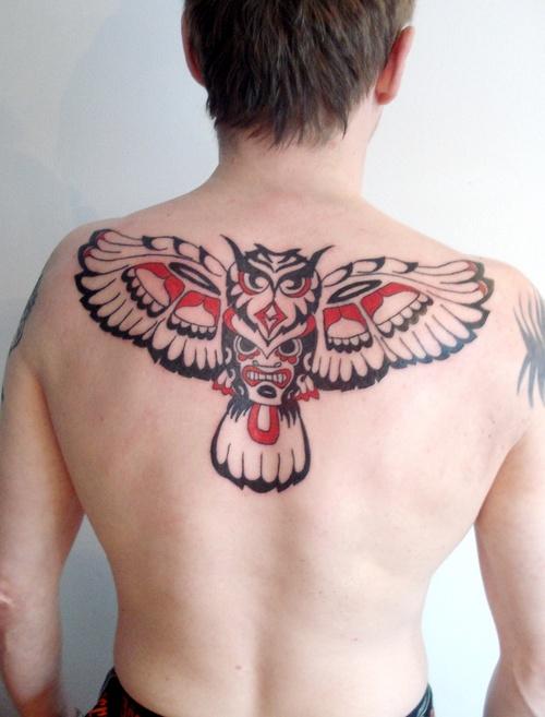 owl-tattoos-maori