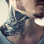 owl-tattoos-neckpiece