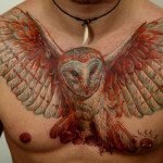 owl-tattoos-on-chestpiece