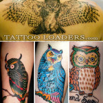 owl-tattoos-trad
