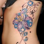 purple-lily-tattoo