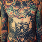 stomach-owl-tattoos