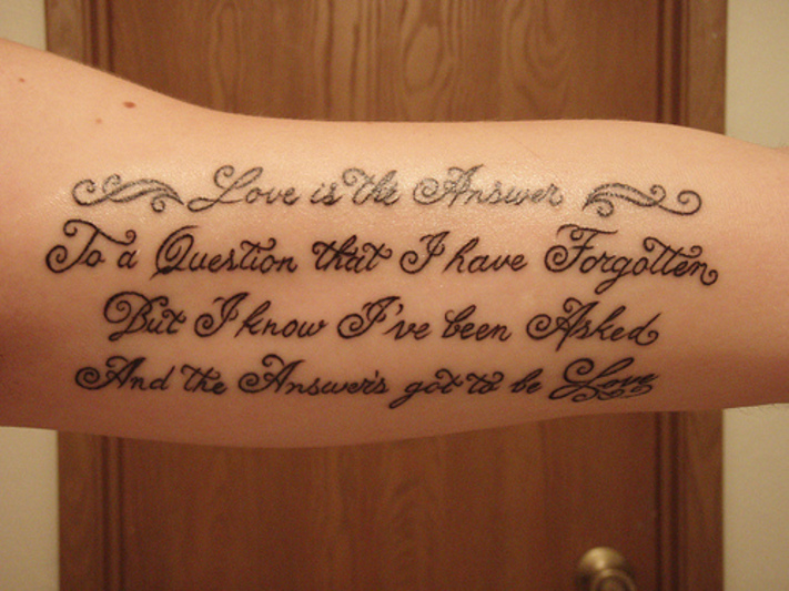 tattoo lettering script inner arm tattoo love. Black Bedroom Furniture Sets. Home Design Ideas