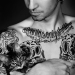 tattoos-for-men-kitten