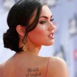 tattoos women megan fox actress people celebrity