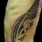 tribal_fern_wing_maori_black_gray_tattoo