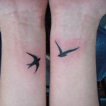 wrist tattoo birds