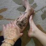 dreamcatcher henna tattoo design