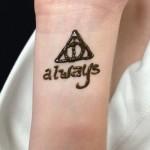 harry potter henna tattoo design