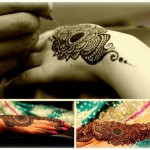 henna tattoo designs in progress