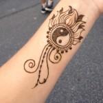 henna tattoo designs yin yang