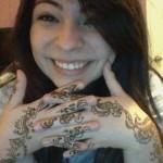 matched henna tattoo designs