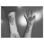 wolf henna tattoo design